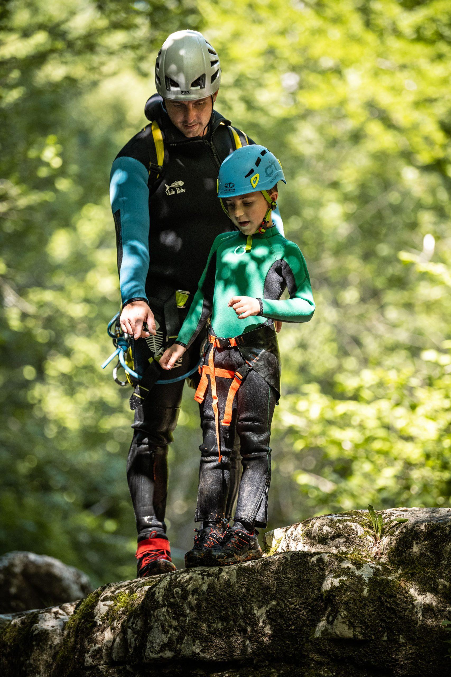 Découverte du canyoning pour les enfants