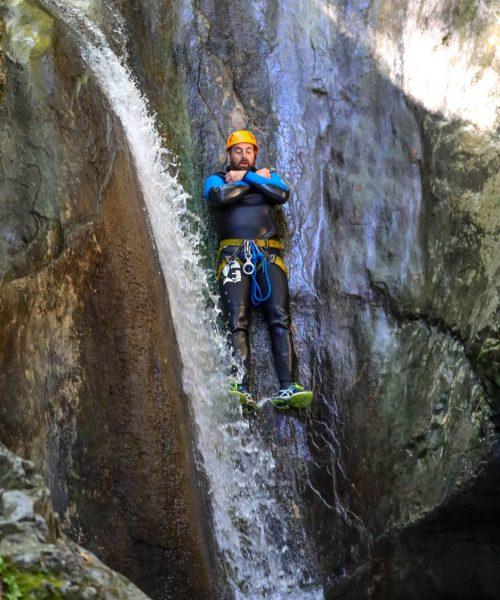 Toboggan canyoning