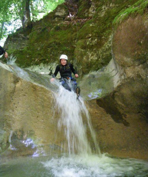 petit toboggan canyoning