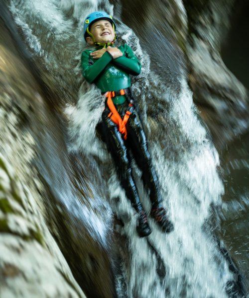 Toboggan canyoning pour enfants