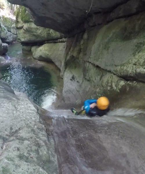 Toboggan canyoning Ternèze en Savoie